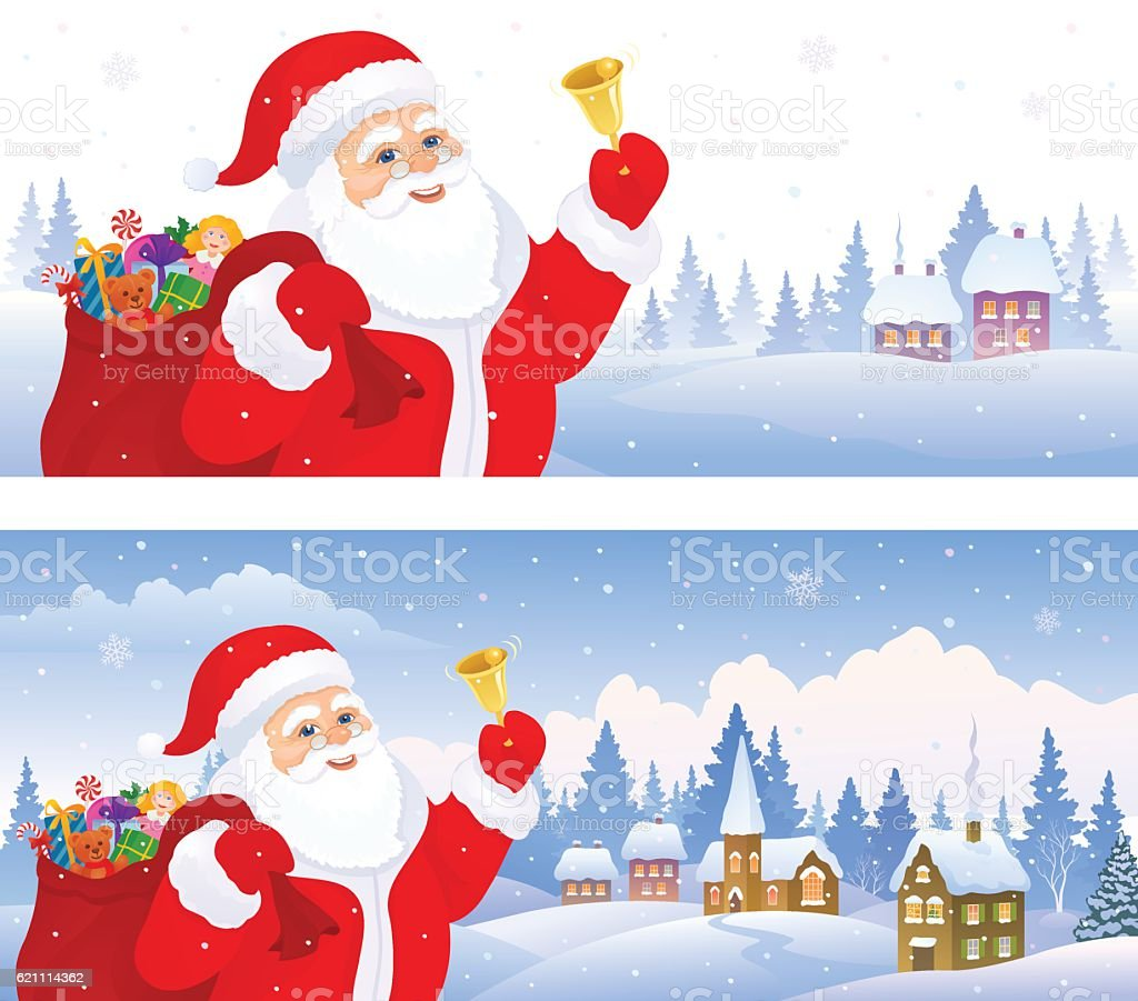 Santa banners stock vector art istock