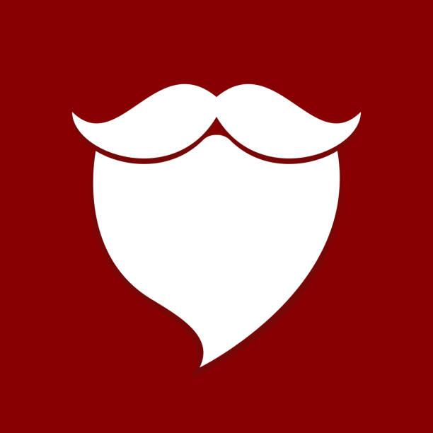 illustrations, cliparts, dessins animés et icônes de fond rouge de santa barbe moustache blanche - pere noel