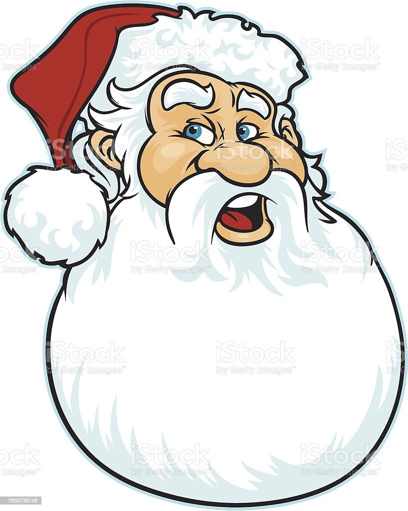 Santa Beard vector art illustration