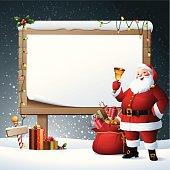 - santa with blank billboard