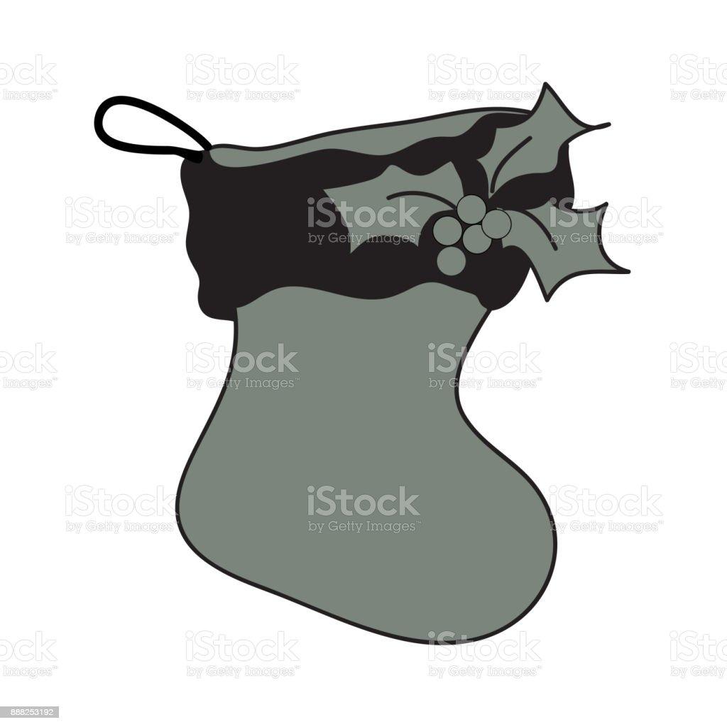 Santa Stiefel Silhouette Icon Symbol Design Red Santa Schuhe ...