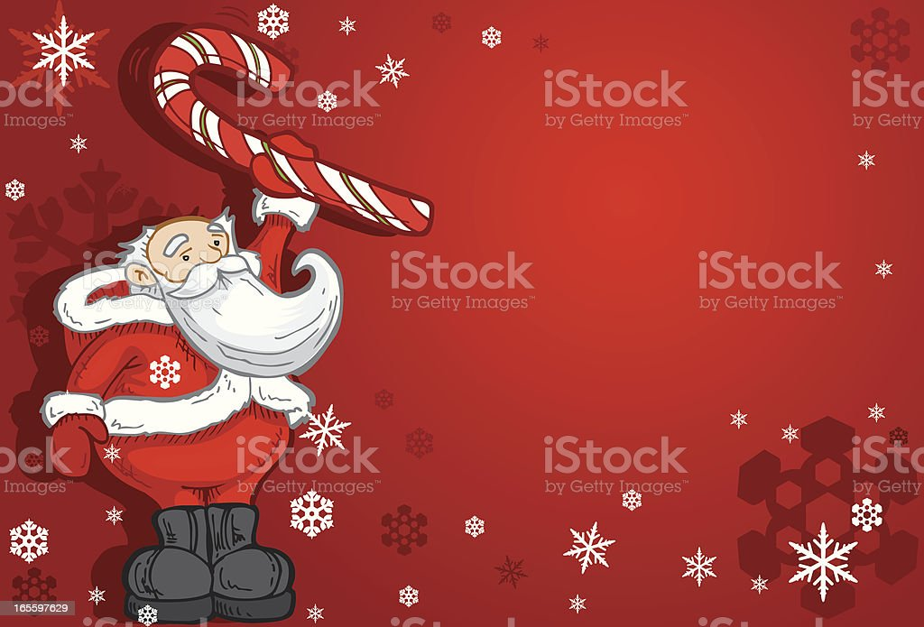 Santa Cane Card royalty-free santa cane card stock vector art & more images of candy