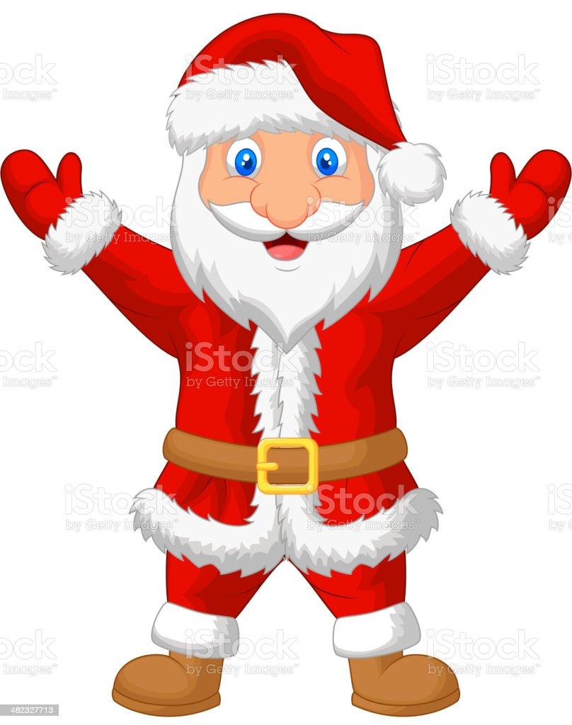 Santa cartoon waving royalty-free stock vector art