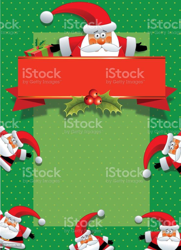 Carte Noel Australie.Carte De Noel Santa Ou Invitation Vecteurs Libres De Droits