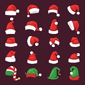Santa christmas hat vector illustration.