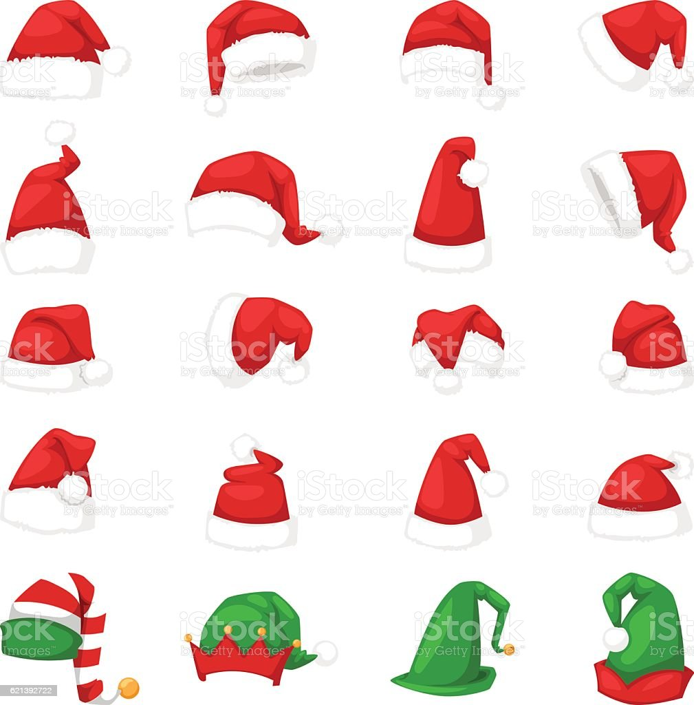 Santa christmas hat vector illustration. vector art illustration