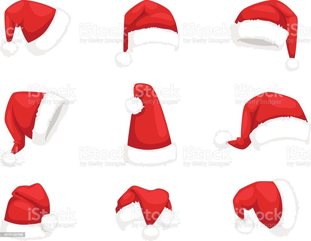 Santa christmas hat vector illustration. ilustración de santa christmas hat vector illustration y más vectores libres de derechos de accesorio personal libre de derechos