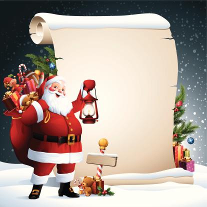 Santa - Christmas Scroll