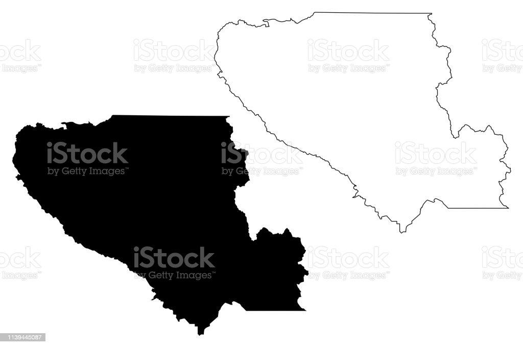 Santa Clara County California Map Vector Stock Vr Art und mehr ... on