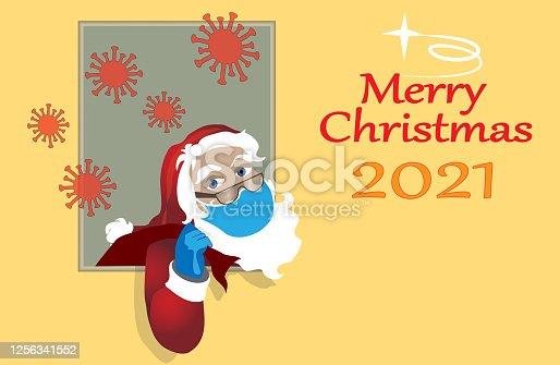 istock Santa Claus 2021.Merry christmas 1256341552