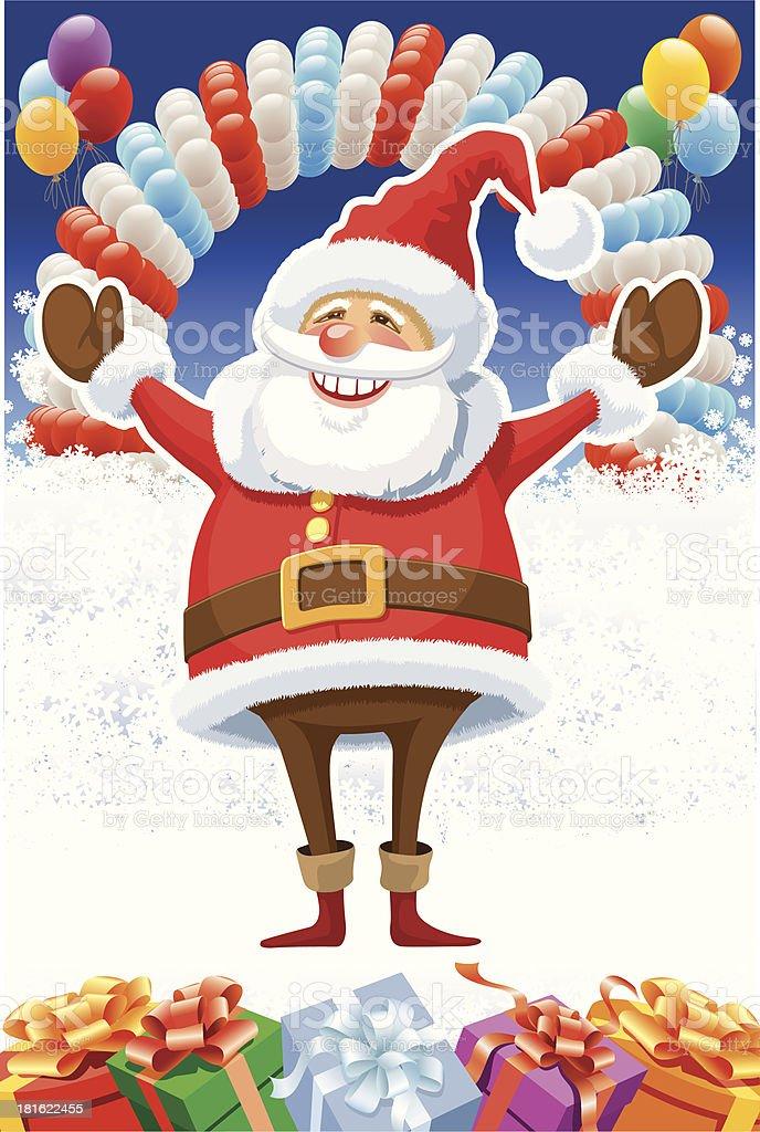Santa Claus and balloons royalty-free stock vector art