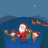 Santa Claus and his Elves Friend