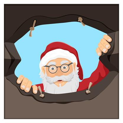Santa Claus and his gift bag