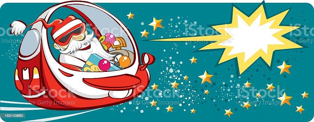 Santa Claus and his presents royalty-free stock vector art