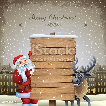 istock Santa Claus and his Reindeer 637280710