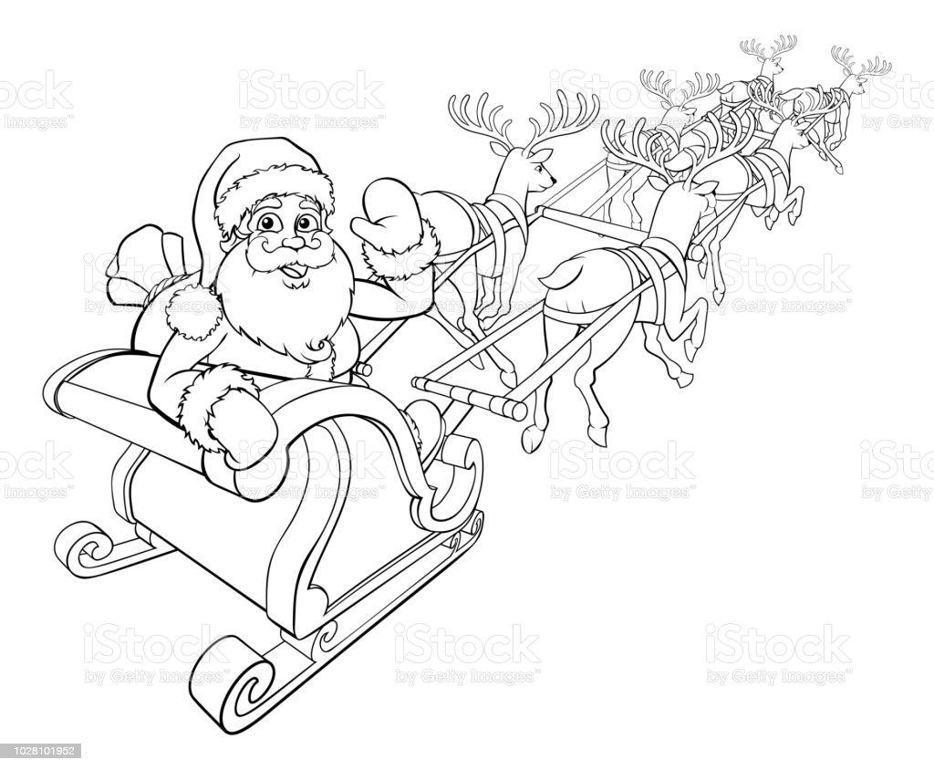 32 weihnachtsmann mit rentier zum ausmalen - besten bilder