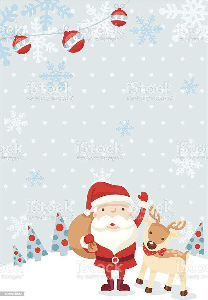 santa claus and reindeer royalty-free stock vector art