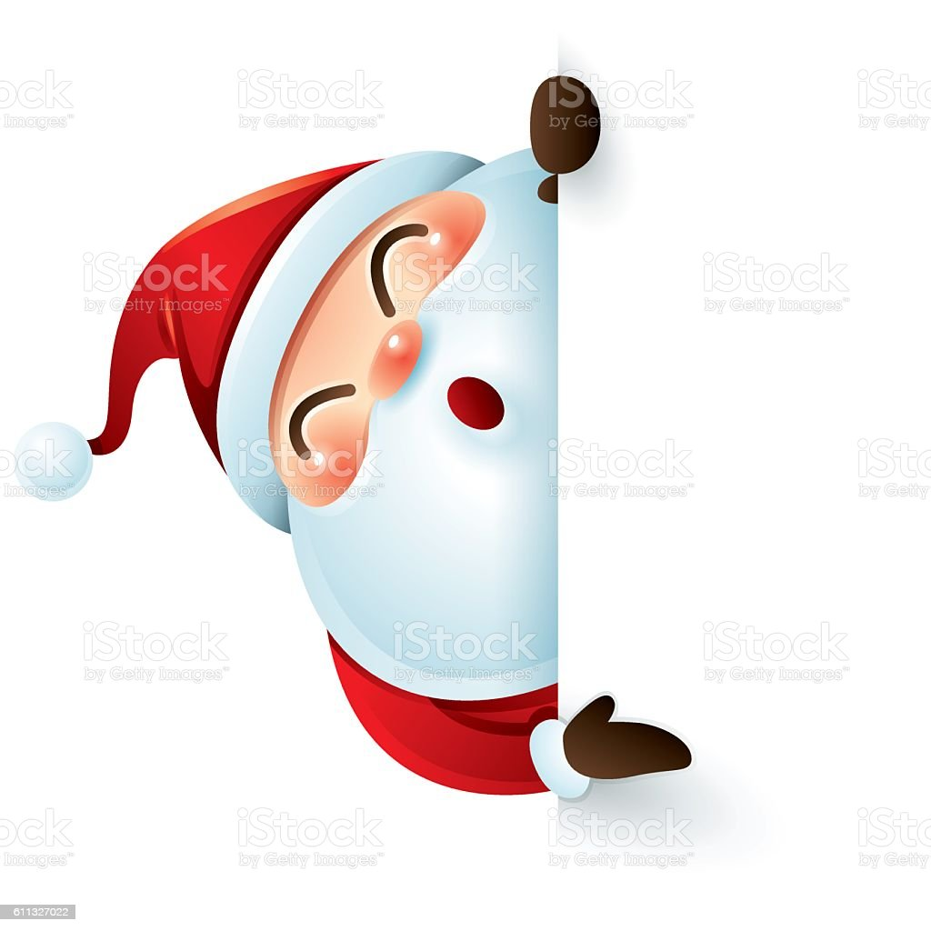 santa claus and sign stock vector art more images of backdrop