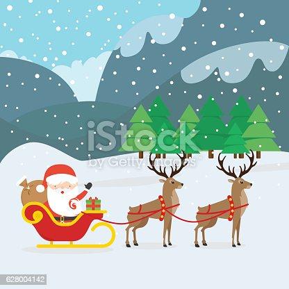 istock Santa Claus and Sleigh 628004142