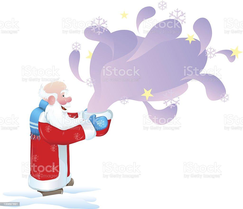 Santa Claus and the miracle royalty-free stock vector art