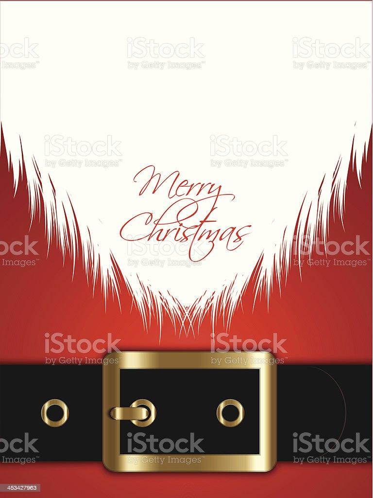 Santa Claus background vector art illustration