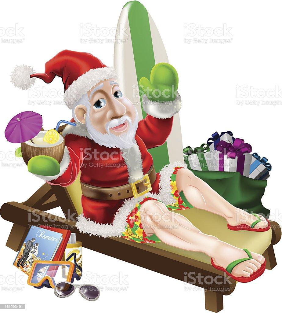 Santa Claus Beach Vacation royalty-free santa claus beach vacation stock vector art & more images of alcohol
