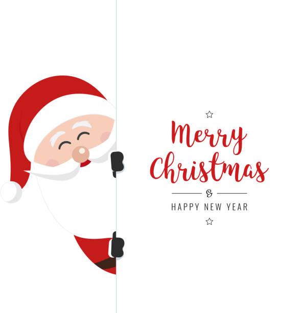 バナー クリスマス gretting 白背景の背後にあるサンタ クロース - サンタクロース点のイラスト素材/クリップアート素材/マンガ素材/アイコン素材
