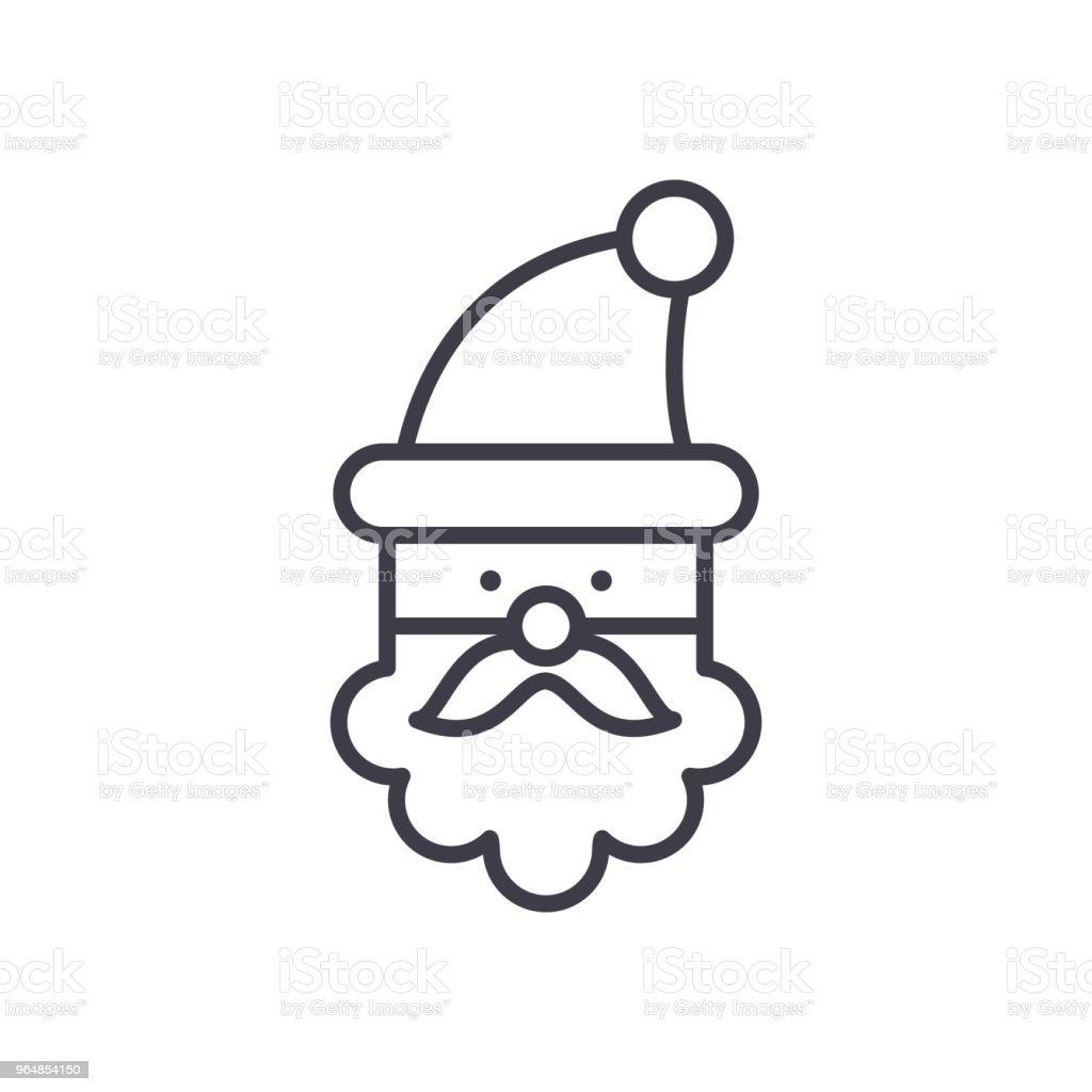 Santa Claus black icon concept. Santa Claus flat  vector symbol, sign, illustration. royalty-free santa claus black icon concept santa claus flat vector symbol sign illustration stock vector art & more images of animal body part