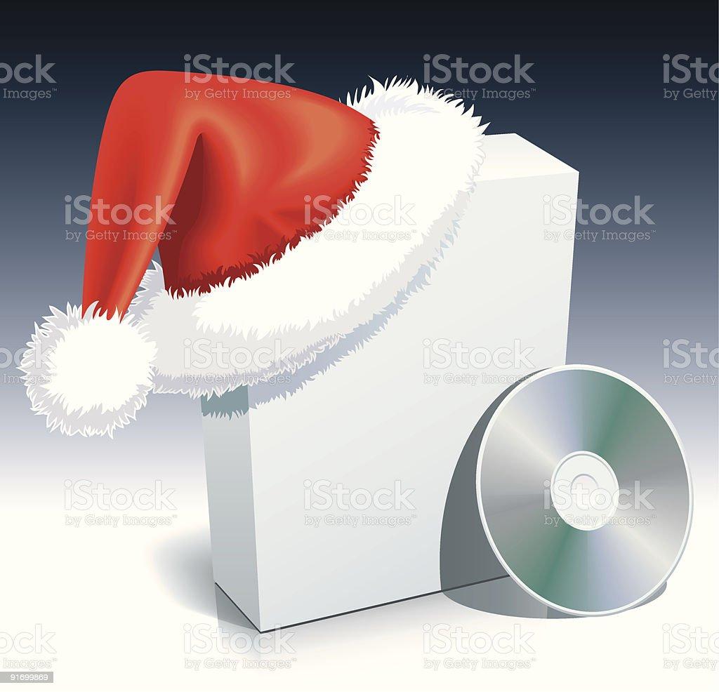 Santa Claus box royalty-free stock vector art