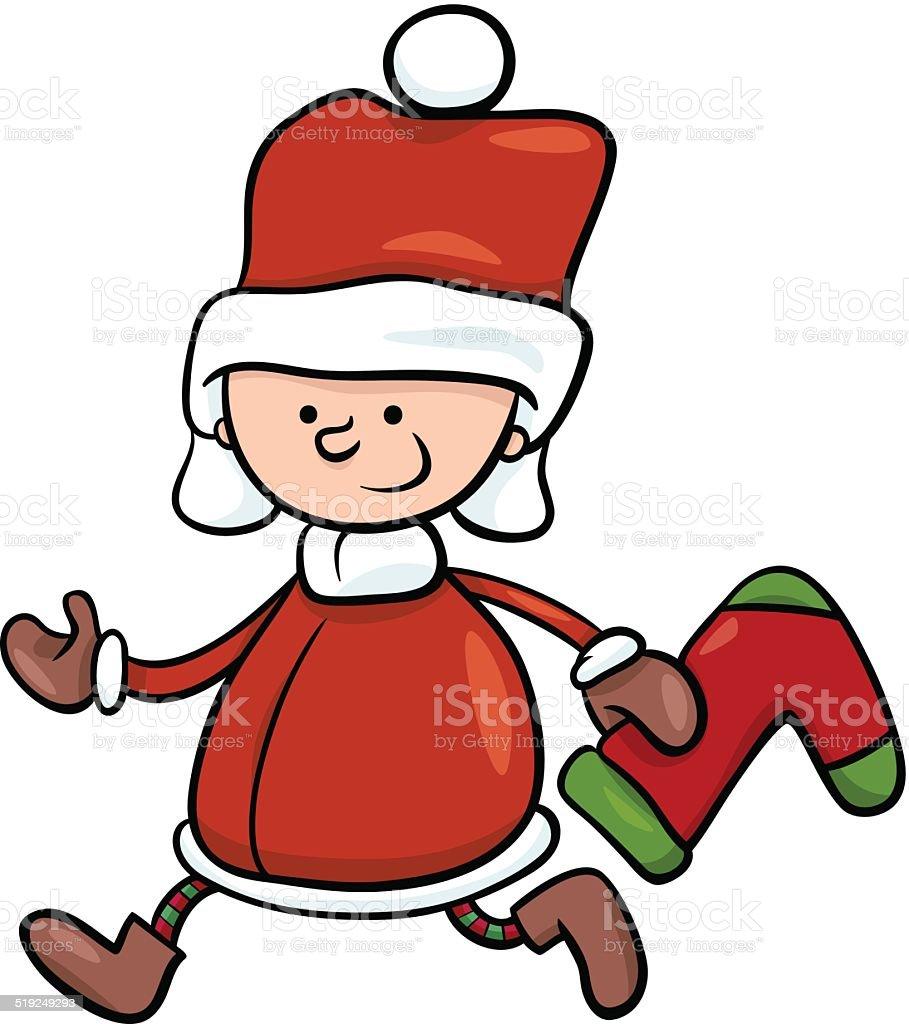 Illustration De Dessin Animé De Santa Claus Garçon Vecteurs Libres