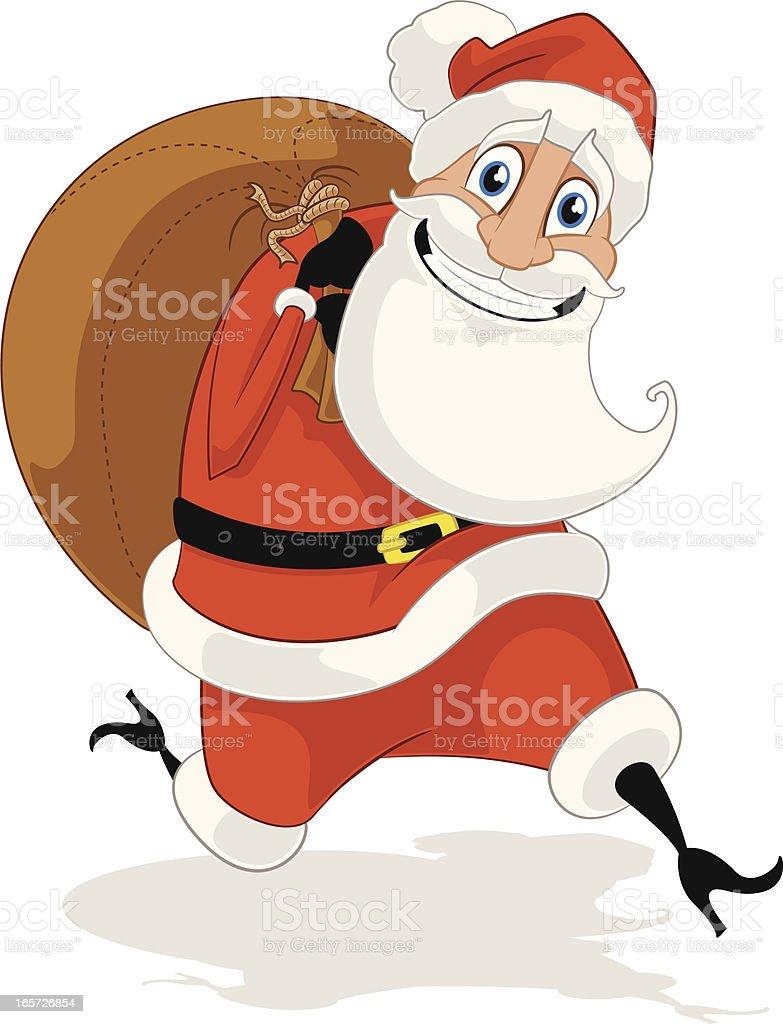 Santa Claus Cartoon vector art illustration