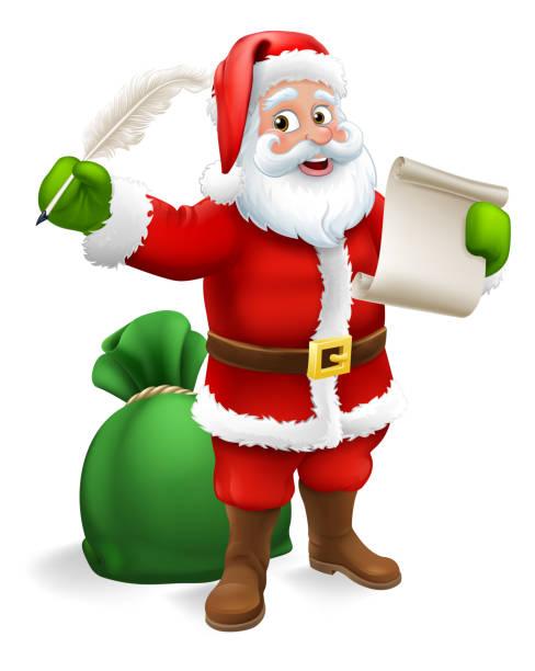 Père Noël Noël Cartoon Clip Art Libres De Droits , Vecteurs Et  Illustration. Image 88260182.