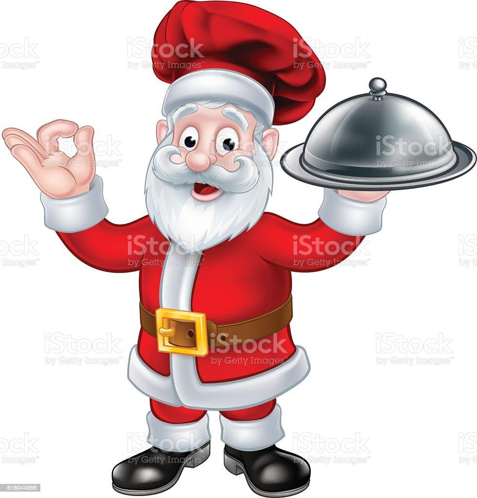 santa claus chef christmas cartoon character stock vector art & more