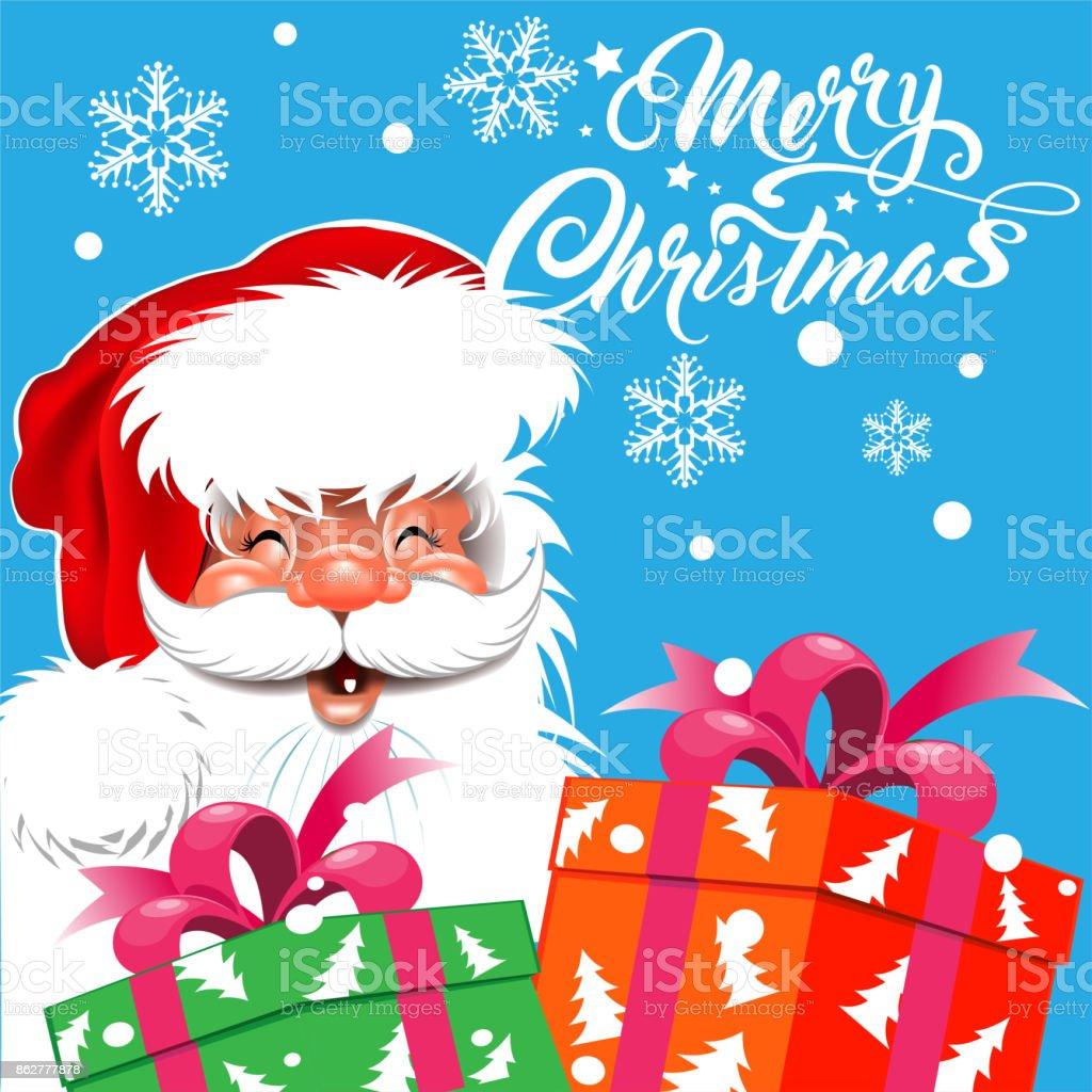 Santa Claus, Christmas card vector art illustration