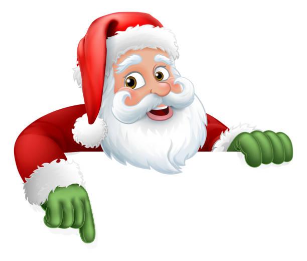 weihnachtsmann weihnachten cartoon charakter - santa stock-grafiken, -clipart, -cartoons und -symbole