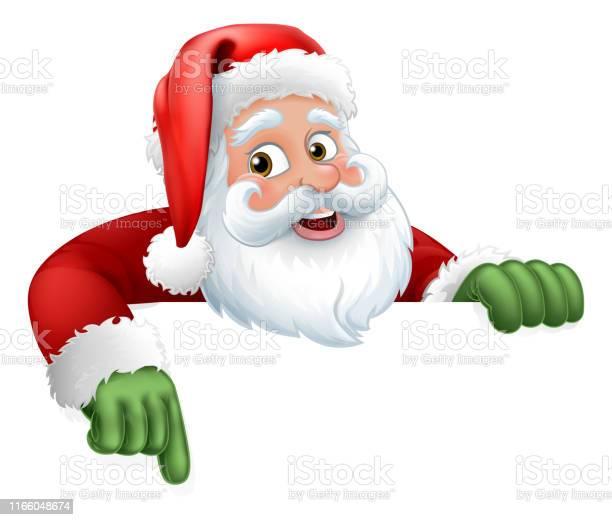 Weihnachtsmann Weihnachten Cartoon Charakter Stock Vektor Art und mehr Bilder von Banneranzeige