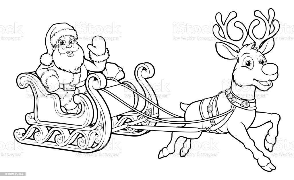 Noel Baba Noel Kisa Sureli Iliski Atli Kizak Kizak Reindee Stok