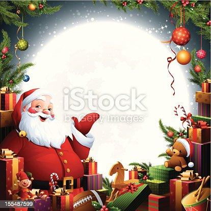 istock Santa Claus - Christmas Gifts 155487599