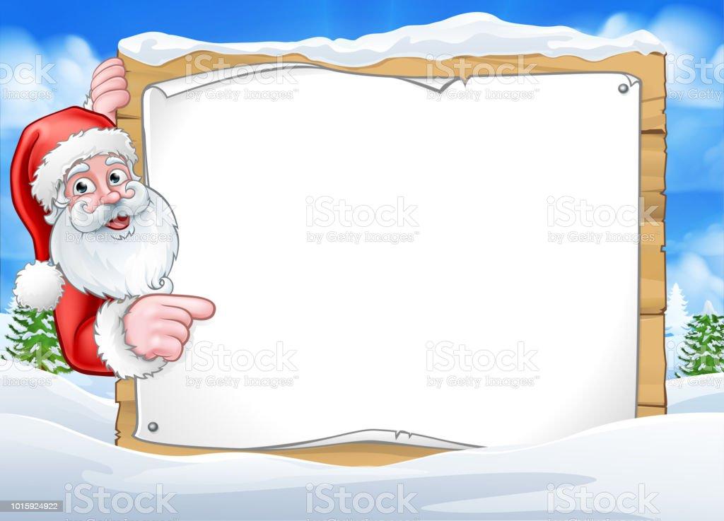 Santa Claus Weihnachten Szenenhintergrund Zeichen Stock Vektor Art ...