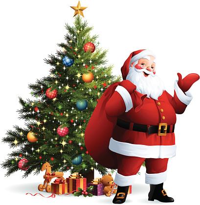 Santa Claus - Christmas Tree