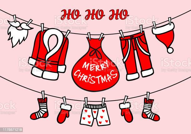 Santa claus clothesline pink vector christmas card vector id1175571218?b=1&k=6&m=1175571218&s=612x612&h=nwlulok4plsn191l53hstg7ezofi a1wqwjujjl z7y=