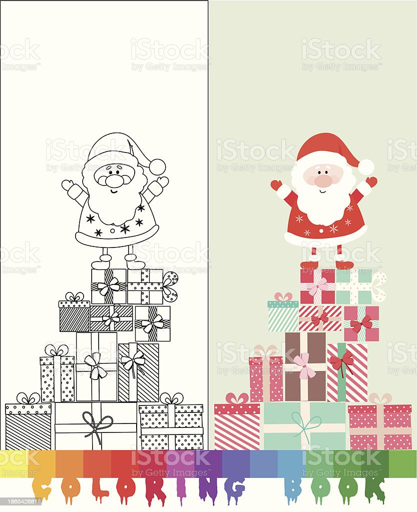 Santa Claus Coloring Page Illustration Stock Vector Art More