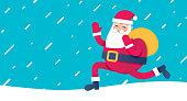 istock Santa Claus Delivering Background 1265041724