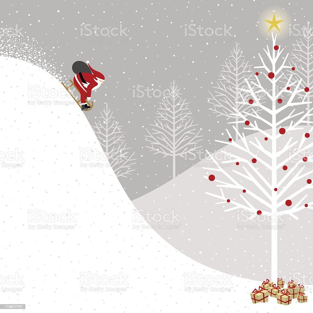 Santa Claus delivering presents royalty-free stock vector art