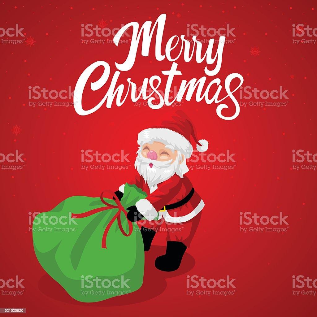 Santa Claus dragging his gift sack santa claus dragging his gift sack - immagini vettoriali stock e altre immagini di avatar royalty-free