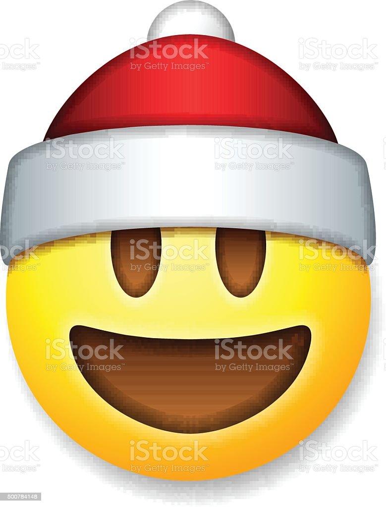 santa claus emoticon lachen urlaub mit emoji stock vektor art und mehr  bilder von auge - istock  istock