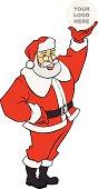 Santa Claus enseña tu logotipo