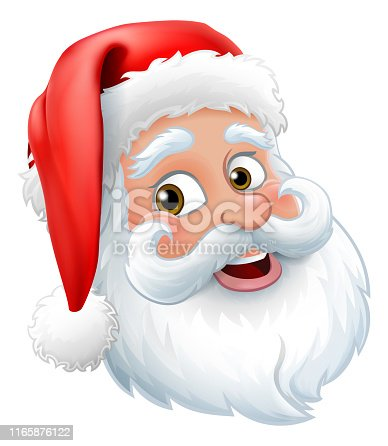 istock Santa Claus Father Christmas Cartoon Character 1165876122
