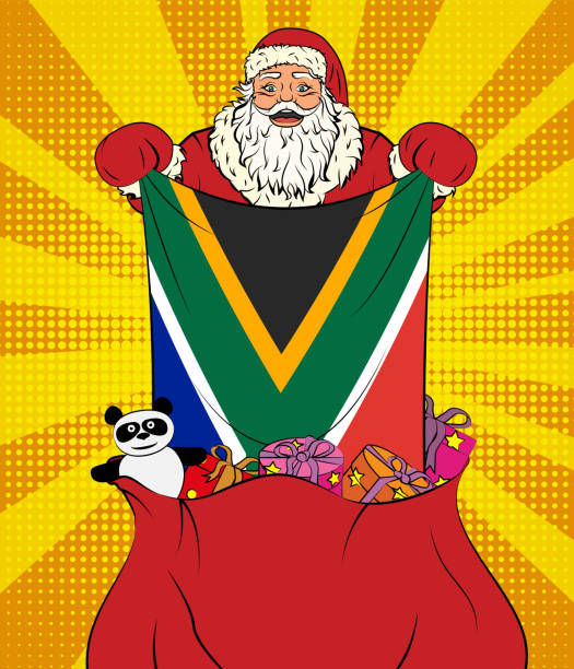 African Christmas.Best South African Christmas Illustrations Royalty Free