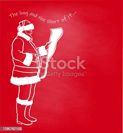 istock Santa Claus Gift List Red Chalkboard 1290782103